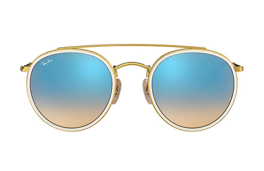Ray-Ban  sunglasses RB3647N UNISEX 002 round double bridge polished gold 8053672742299
