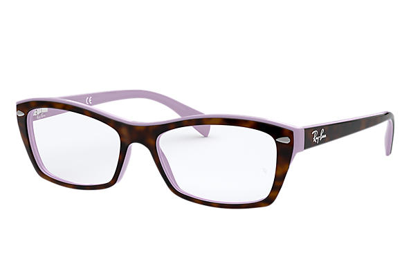 Ray-Ban 0RX5255-RB5255 Tortoise,Violet OPTICAL
