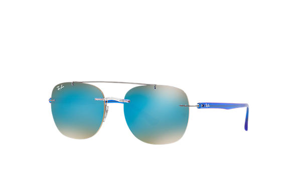 Ray-Ban Sunglasses RB4280 Transparent with Blue Gradient Mirror lens