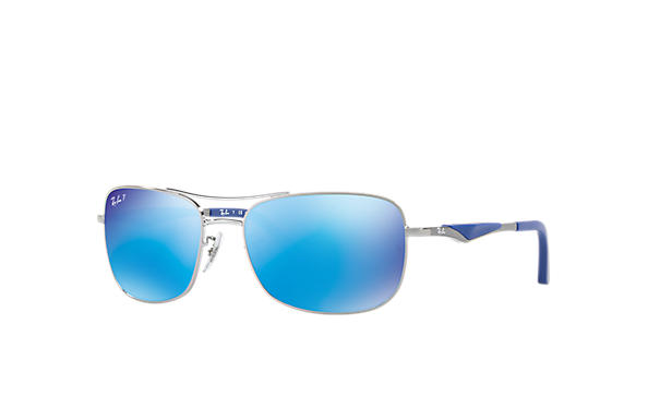 6c276db282 Ray-Ban RB3515 Gunmetal - Steel - Blue Polarized Lenses - 0RB3515004 ...
