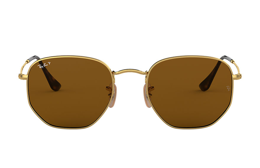 Ray-Ban  sunglasses RB3548N UNISEX 003 hexagonal flat lenses polished gold 8053672743821