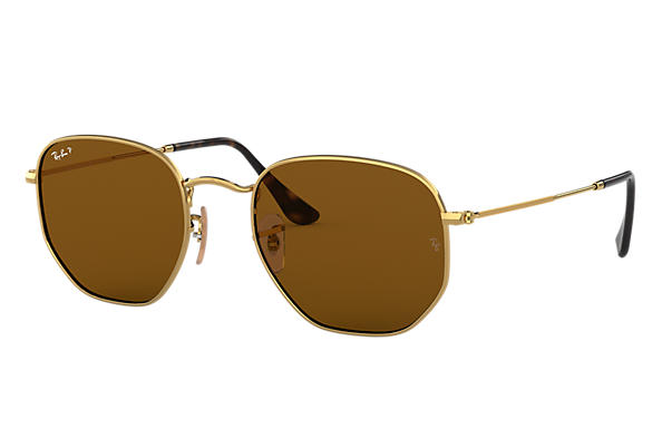 Ray-Ban 0RB3548N-HEXAGONAL FLAT LENSES Polished Gold,Gold; Gold SUN