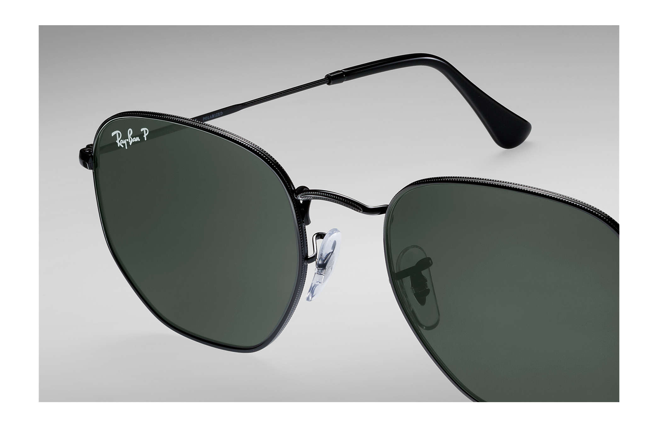 0663f72240c Ray-Ban Hexagonal Flat Lenses RB3548N Black - Metal - Green ...