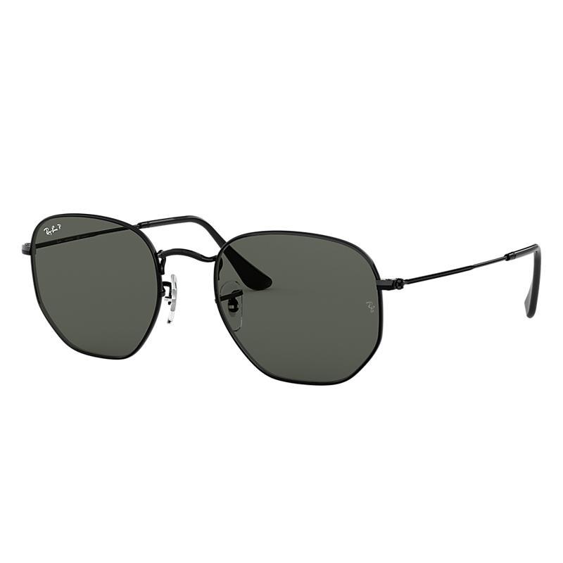 eae60b5a9cd9e Ray Ban Hexagonal flat lenses Man Sunglasses Lenses  Green Polarized,  Frame  Black - RB3548N 002 58 54-21   £172.00   Port