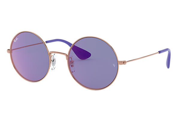 Ray-Ban Sunglasses JA-JO Bronze-Copper with Dark Violet Classic lens