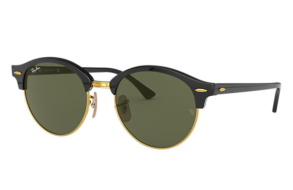 Ray-Ban Sunglasses CLUBROUND CLASSIC LOW BRIDGE FIT Tortoise with Green Classic G-15 lens