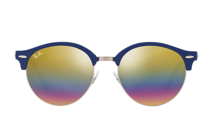 Ray-Ban  sunglasses RB4246F UNISEX 004 clubround mineral flash lenses blue 8053672751987