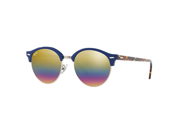Ray-Ban 0RB4246F-CLUBROUND MINERAL FLASH LENSES 藍色; 玳瑁啡色 SUN