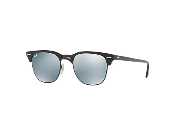 999f98761 Ray-Ban Clubmaster Classic RB3016 Black - Acetate - Green Lenses ...