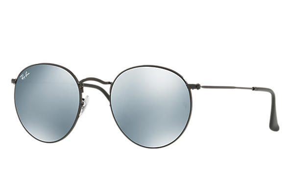 Ray-Ban 0RB3447-ROUND METAL Negro SUN