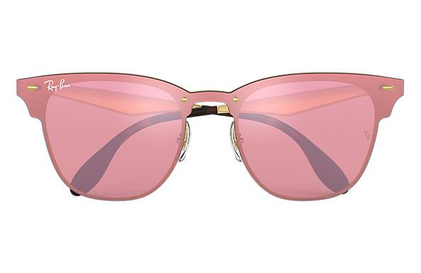b8bb017ac4b53 Ray-Ban Blaze Clubmaster RB3576N Gold - Metal - Pink Lenses ...