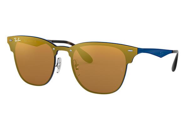 6e1f58025c56e Ray-Ban Blaze Clubmaster RB3576N Blue - Metal - Dark Orange Lenses ...