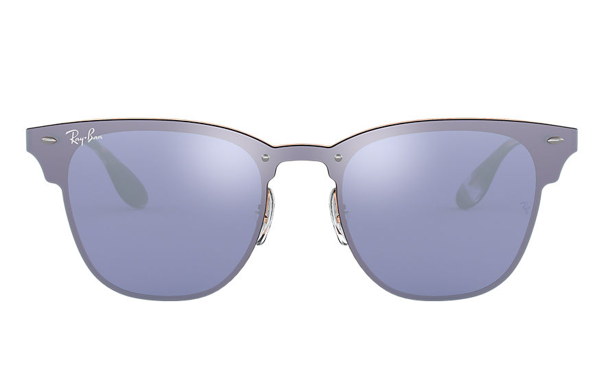 Ray-Ban BLAZE CLUBMASTER Bronze-Copper with Violet Mirror lens