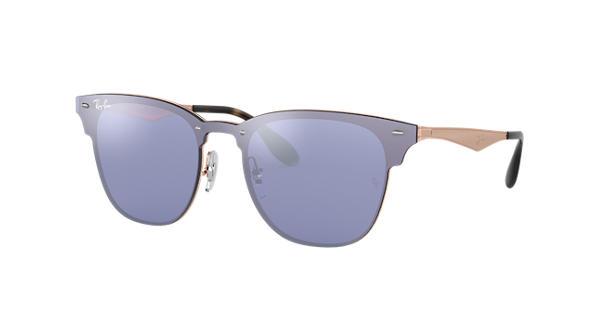 8fd432b733 Ray-Ban Blaze Clubmaster RB3576N Bronze-Copper - Metal - Violet Lenses -  0RB3576N90391U47