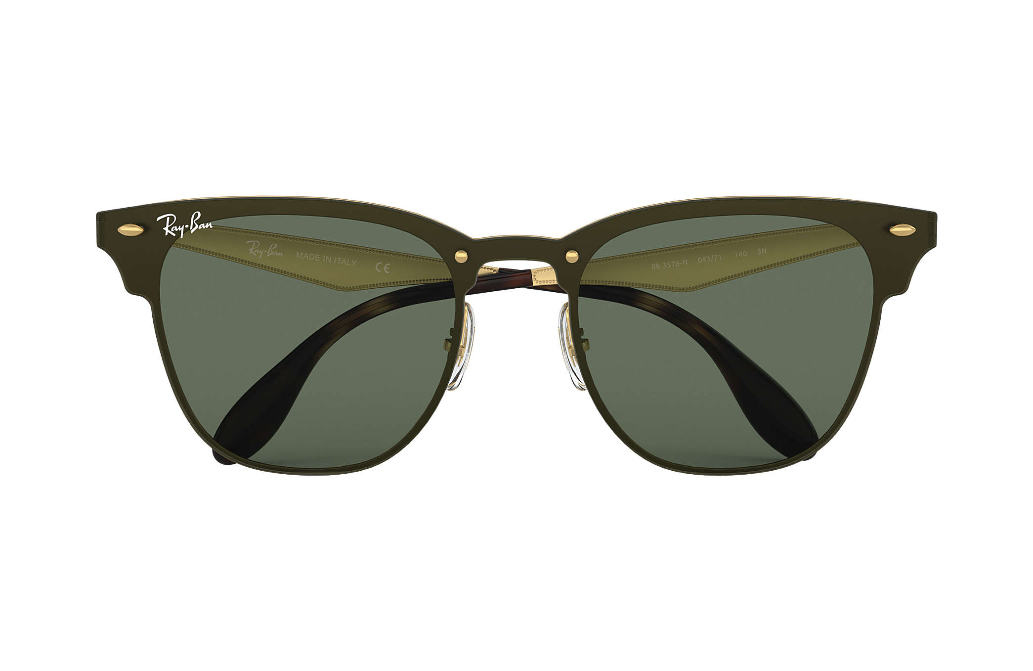 ray ban blaze clubmaster gold