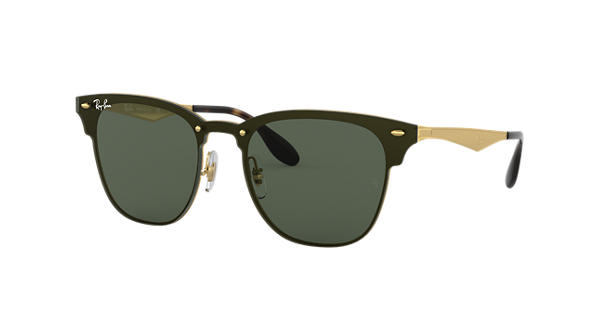 Ray-Ban Blaze Clubmaster RB3576N Gold - Metal - Green Lenses -  0RB3576N043 7147   Ray-Ban® Norway 2e1f36f63d