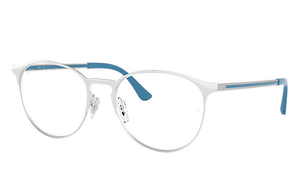 Ray-Ban 0RX6375-RB6375 White,Silver; Blue OPTICAL