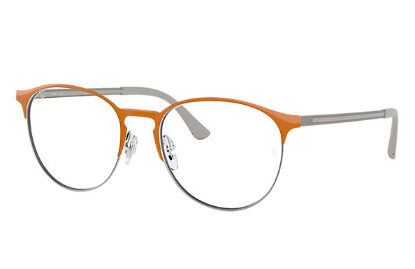 5c16da7839e Ray-Ban prescription glasses RB6375 Orange - Metal - 0RX6375294953 ...