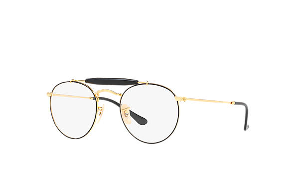 Ray-Ban 0RX3747V-RB3747V Negro,Oro; Oro OPTICAL