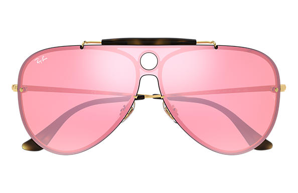 Ray-Ban BLAZE SHOOTER Gold with Pink Mirror lens