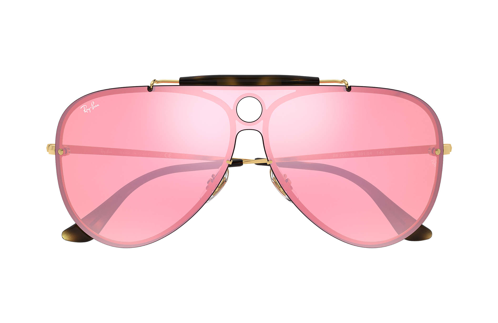 34ddc68aac2 Ray-Ban Blaze Shooter RB3581N Gold - Metal - Pink Lenses ...