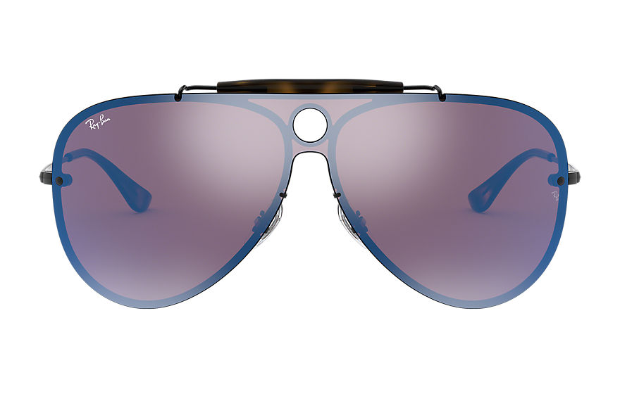 Ray-Ban BLAZE SHOOTER Black with Violet/Blue Mirror lens