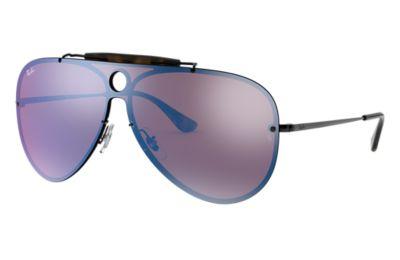Comprar Ray-Ban Gafas-de-sol BLAZE SHOOTER Negro con lente Violeta/Azul Espejada