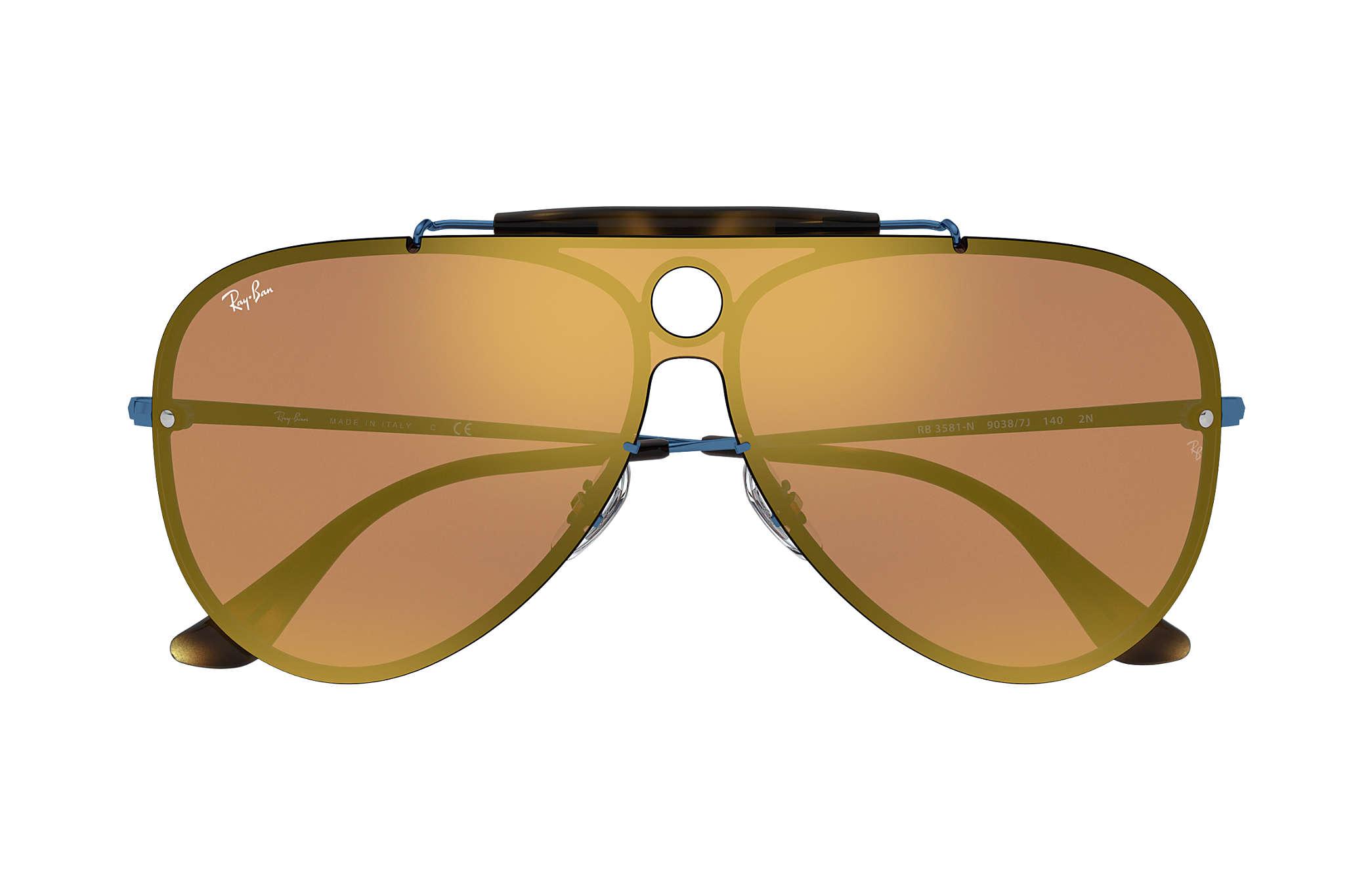 47ba88ef088 Ray-Ban Blaze Shooter RB3581N Blue - Metal - Dark Orange Lenses ...
