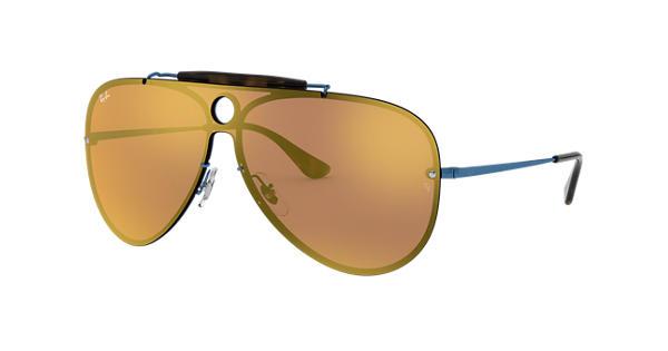 5e97095dee Ray-Ban Blaze Shooter RB3581N Blue - Metal - Dark Orange Lenses -  0RB3581N90387J32
