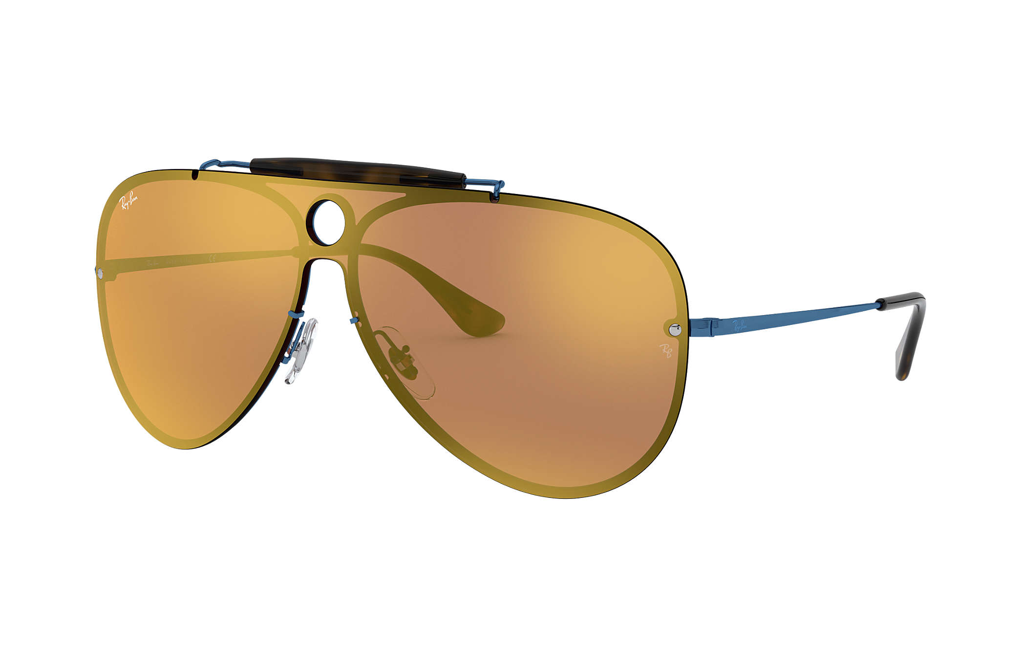 be89db16f5 Ray-Ban Blaze Shooter RB3581N Blue - Metal - Dark Orange Lenses ...