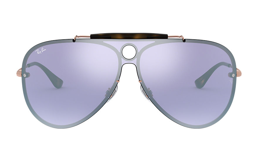 Ray-Ban BLAZE SHOOTER Bronze-Copper with Violet Mirror lens