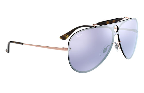 cfbfa2341441b Ray-Ban Blaze Shooter RB3581N Bronze-Copper - Metal - Violet Lenses ...