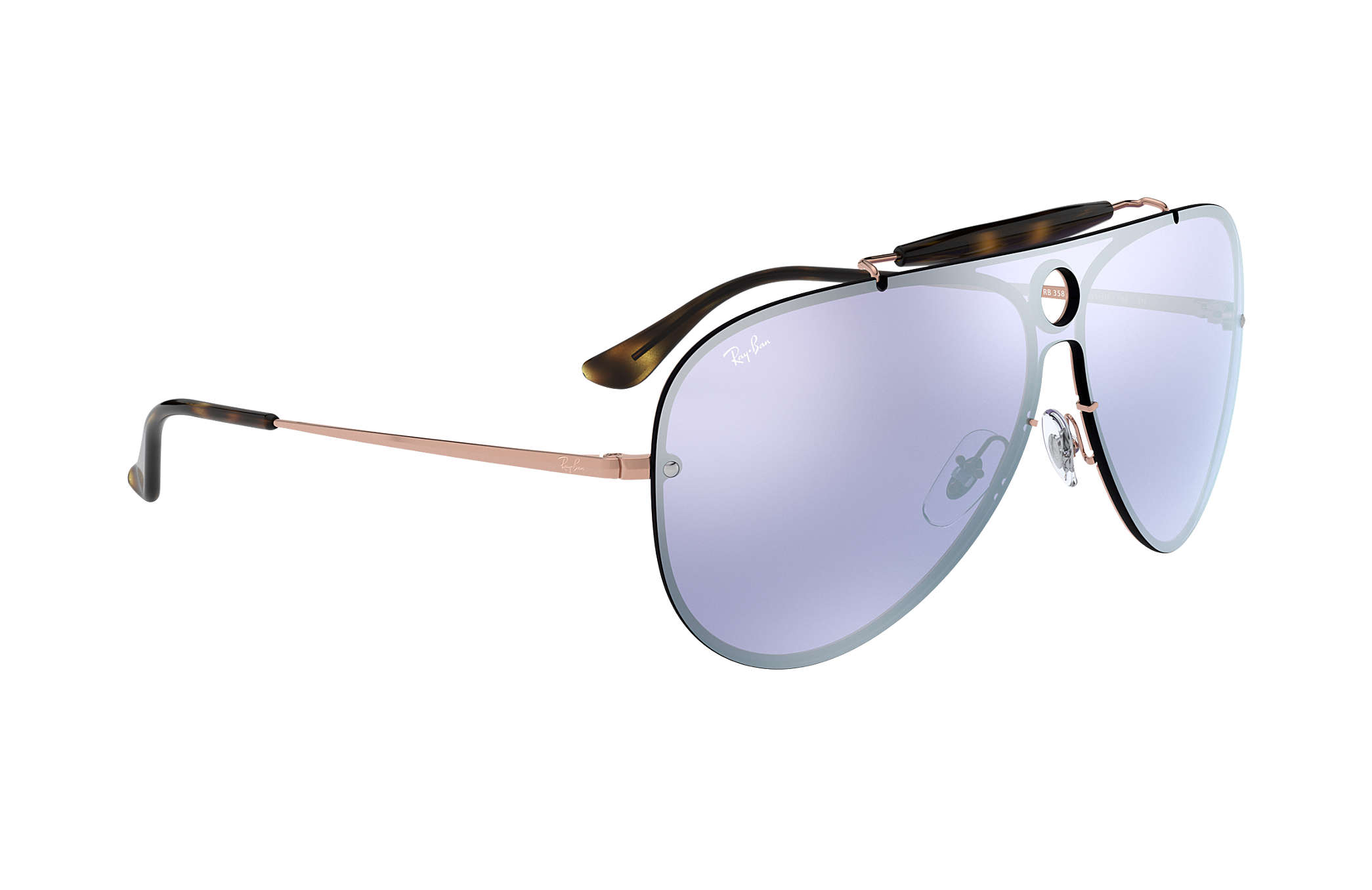 13517a0adbef0 Ray-Ban Blaze Shooter RB3581N Bronze-Copper - Metal - Violet Lenses ...