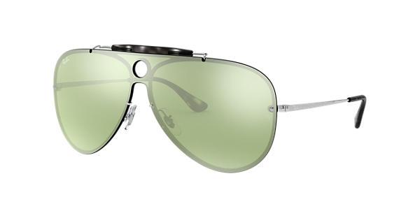 70821ffee73c2 Ray-Ban Blaze Shooter RB3581N Silver - Metal - Dark Green Silver Lenses -  0RB3581N003 3032