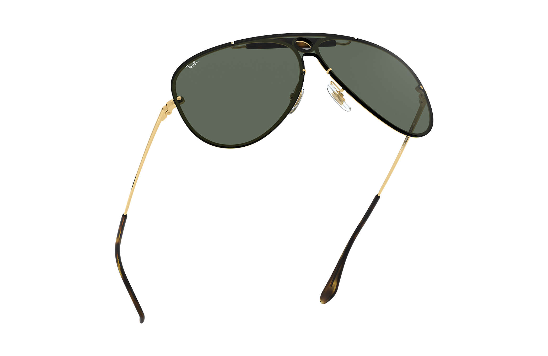 85cd9b288 Ray-Ban Blaze Shooter RB3581N Ouro - Metal - Lentes Verde ...