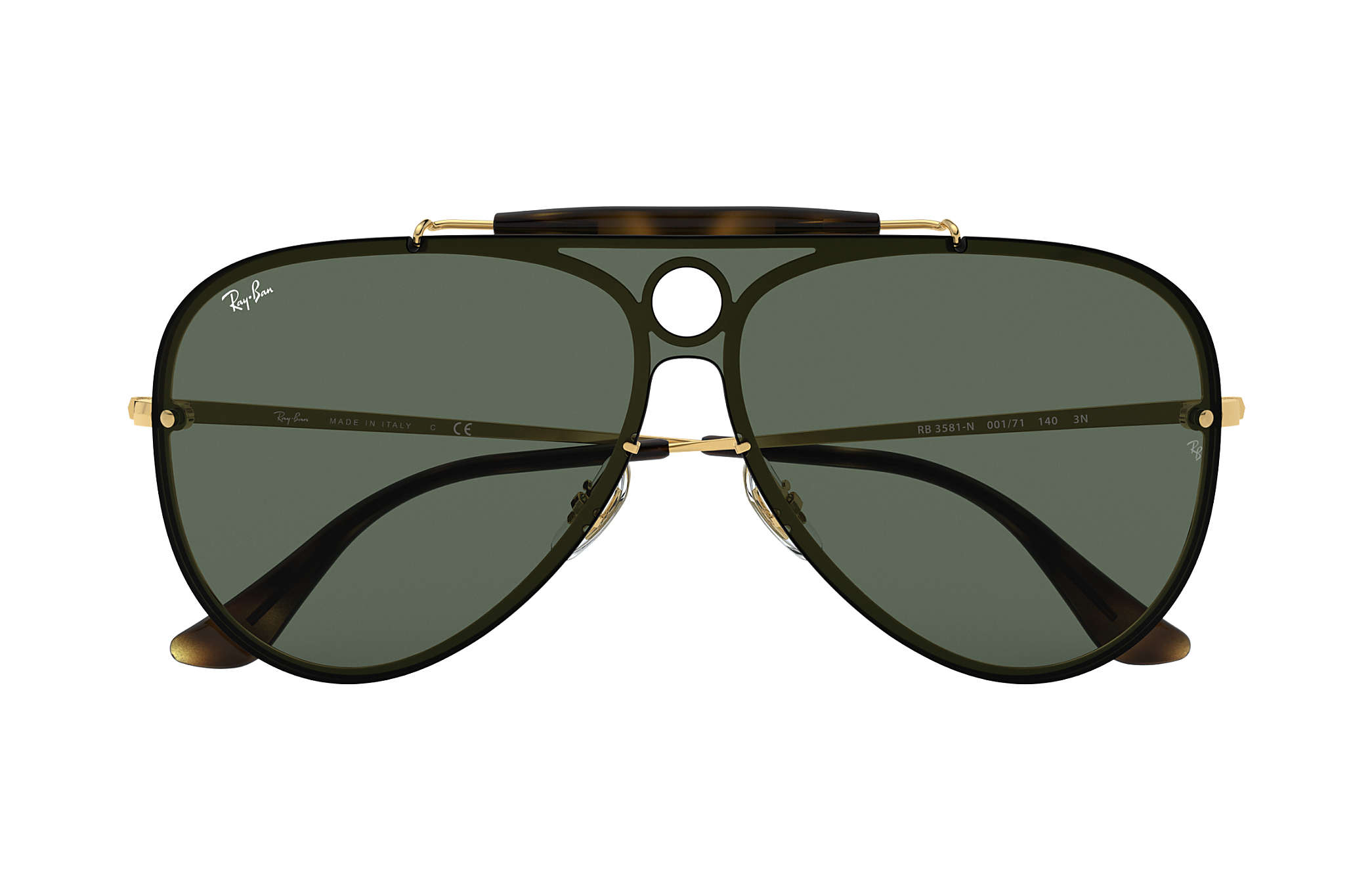 75e2ac3d91574 Ray-Ban Blaze Shooter RB3581N Gold - Metal - Green Lenses ...