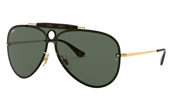 2df5be26fe Ray-Ban Blaze Shooter RB3581N Oro - Metal - Lentes Verde ...