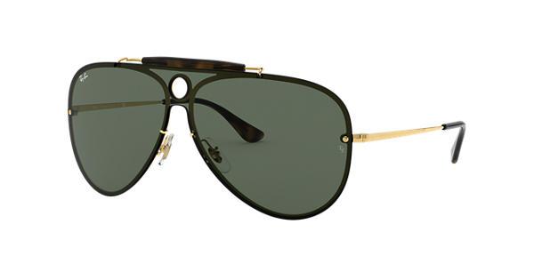 d56ae24f679 Ray-Ban Blaze Shooter RB3581N Gold - Metal - Green Lenses -  0RB3581N001 7132