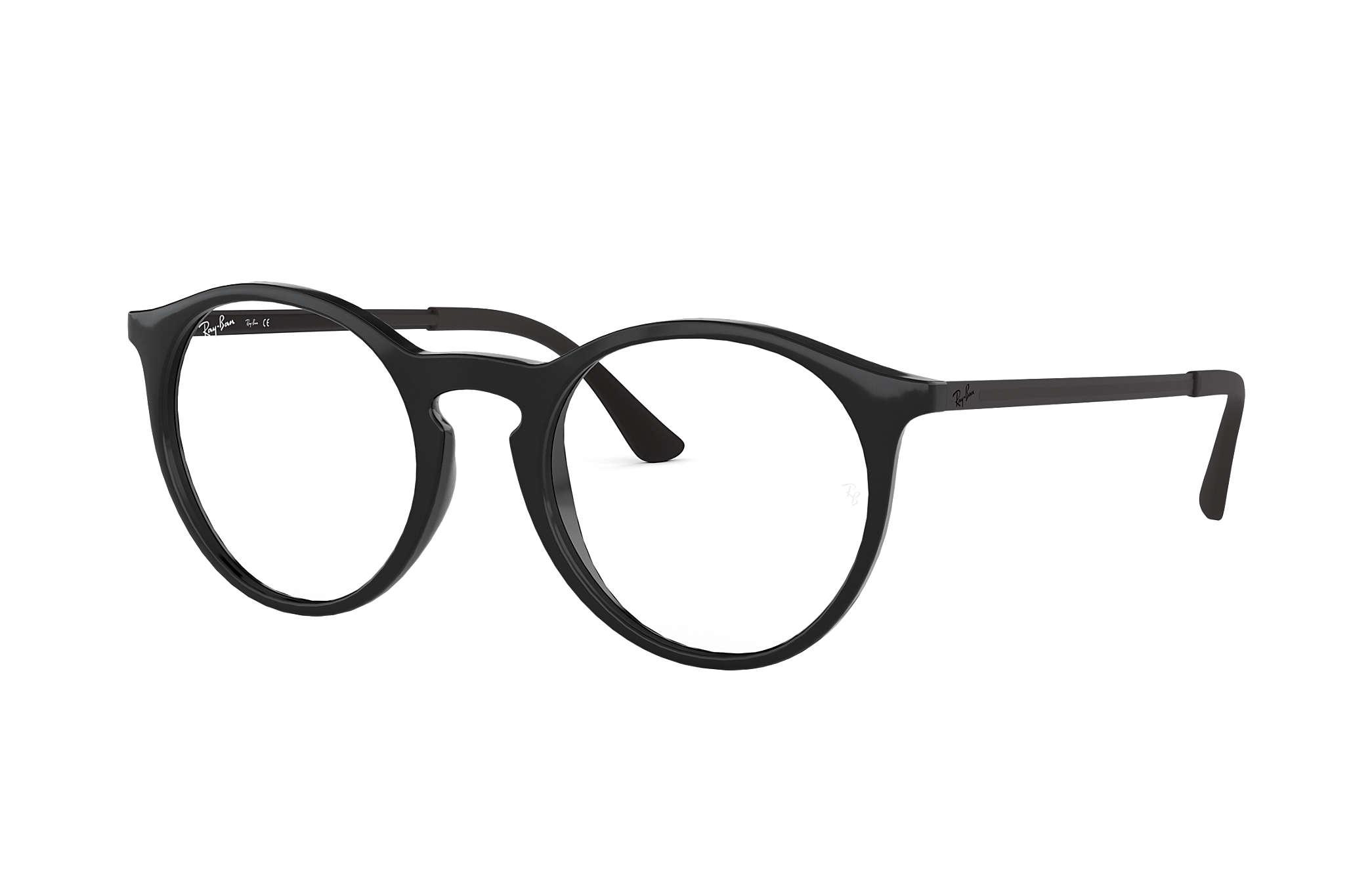 eb6094b290a32 Ray-Ban prescription glasses RB7132 Black - Injected - 0RX7132200050 ...