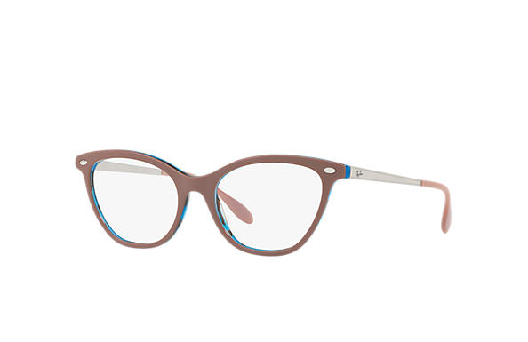 Ray-Ban 0RX5360-RB5360 Light Brown,Blue; Silver OPTICAL