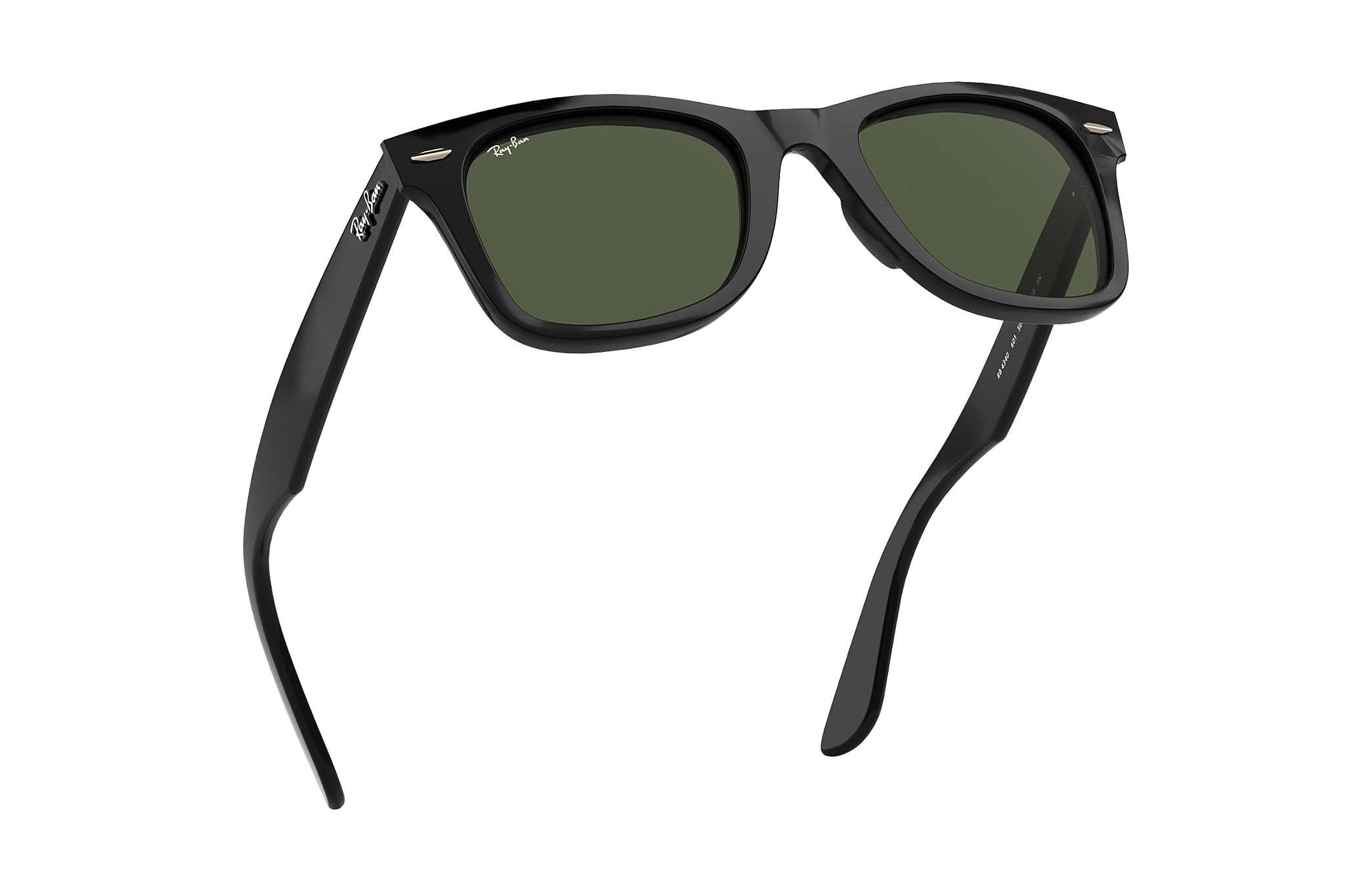 c3b027c0b40061 Ray-Ban Wayfarer Ease RB4340 Black - Injected - Green Lenses ...