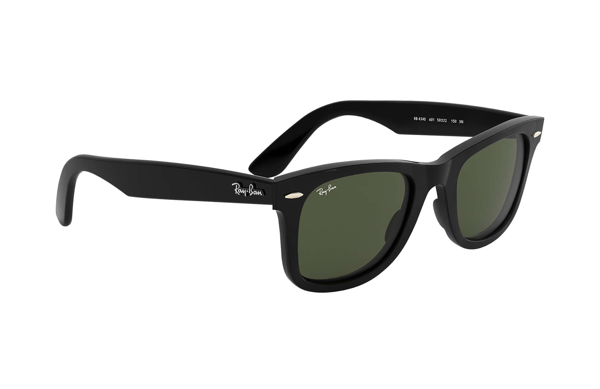 3277b98295 Ray-Ban Wayfarer Ease RB4340 Black - Injected - Green Lenses ...