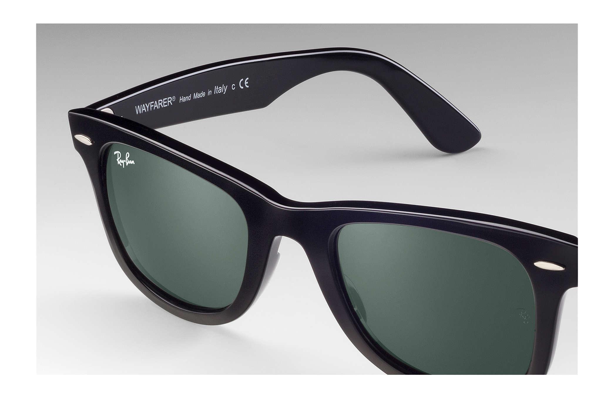 e15b49725 Ray-Ban Wayfarer Ease RB4340 Black - Injected - Green Lenses ...