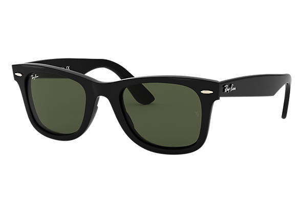 Ray-Ban Sunglasses WAYFARER EASE Gloss Black with Green Classic G-15 lens