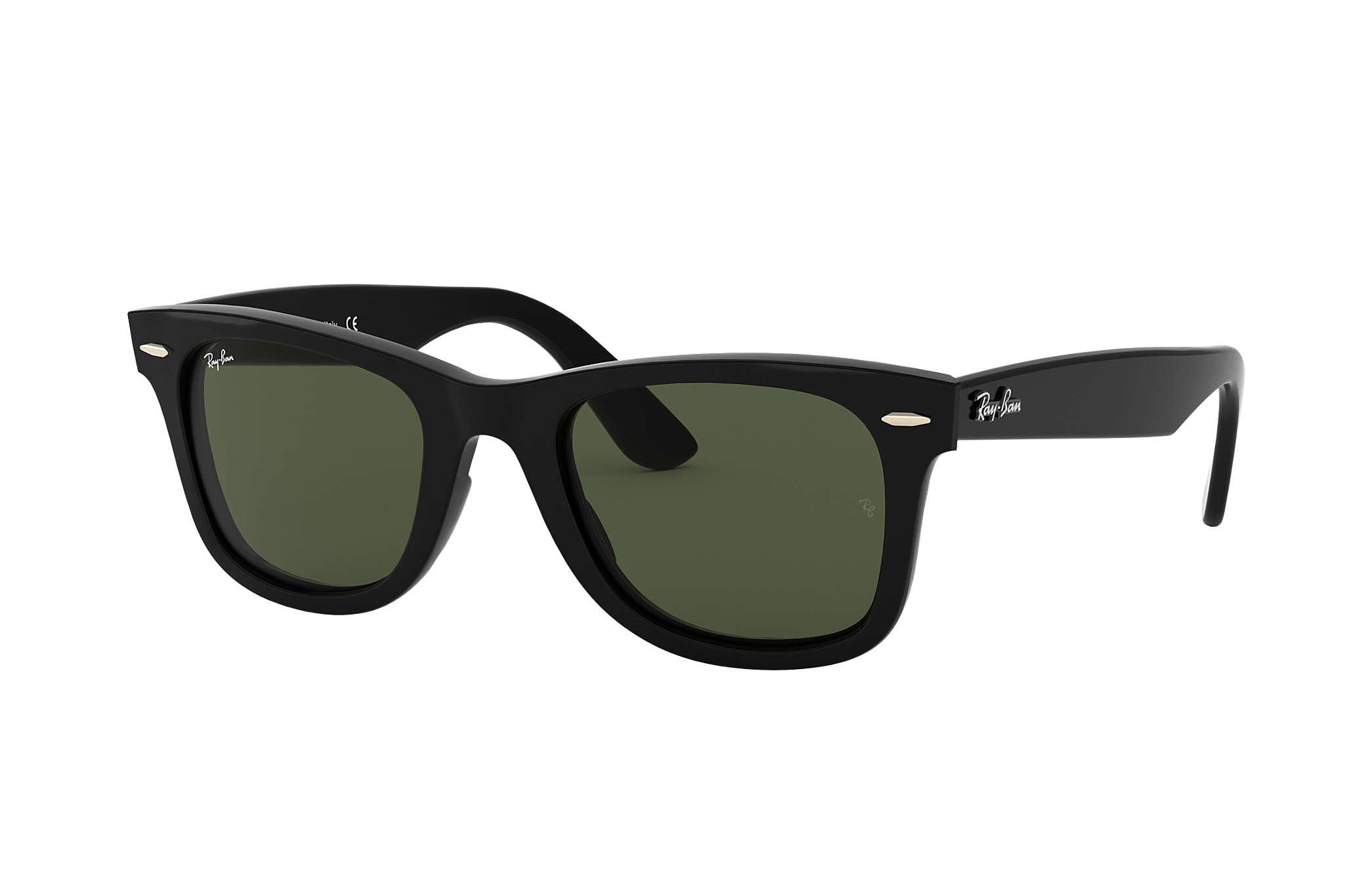 Ray-Ban Wayfarer Ease RB4340 Black - Injected - Green Lenses ... 8334da636158