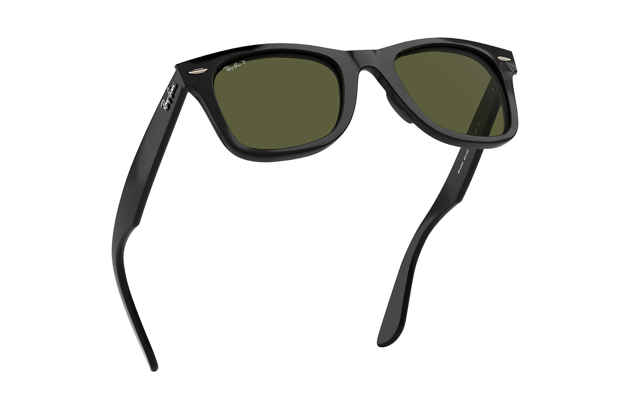 d28f233be5 Ray-Ban Wayfarer Ease RB4340 Black - Injected - Green Polarized ...