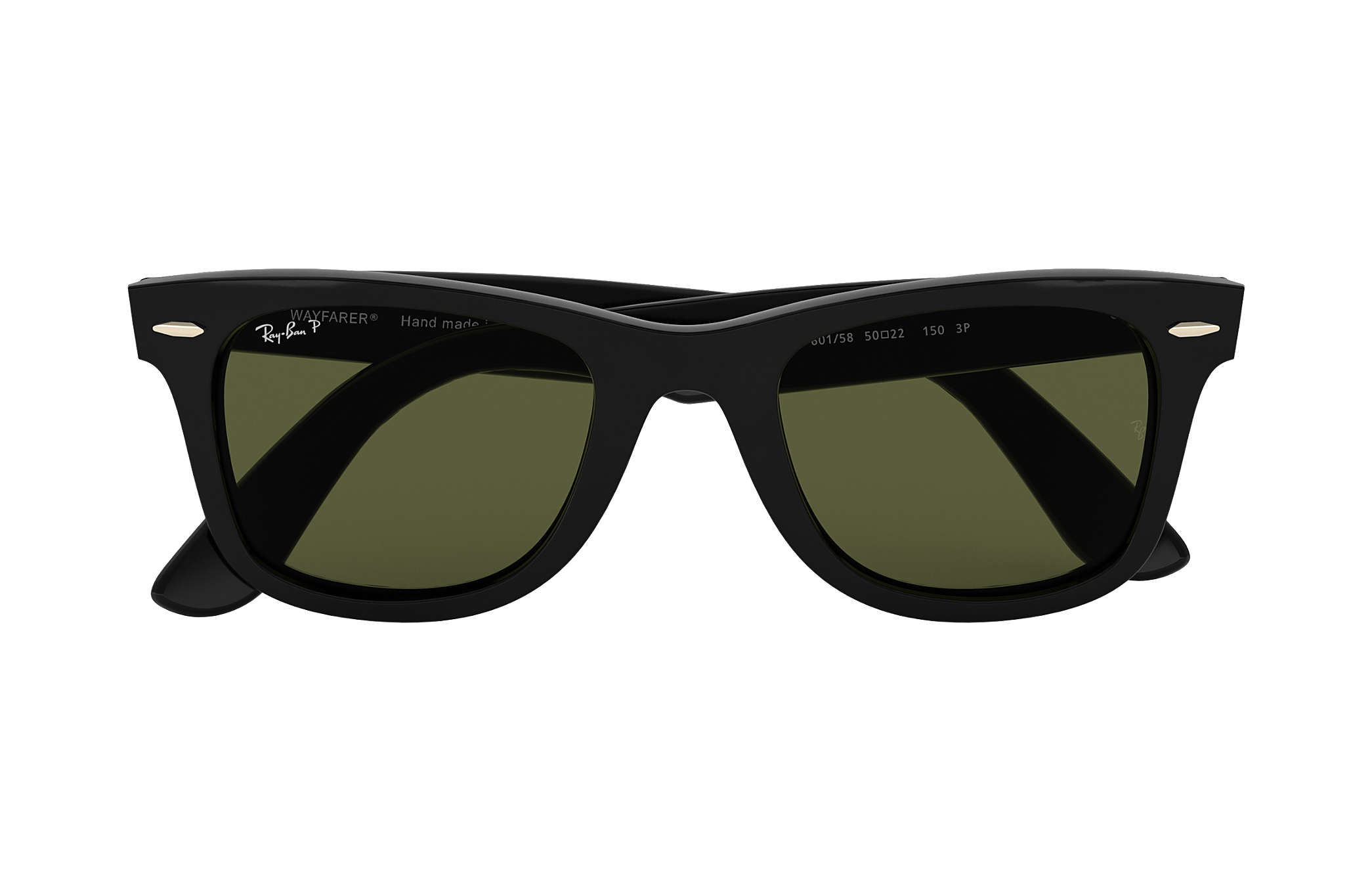 7a94d1ee127 Ray-Ban Wayfarer Ease RB4340 Black - Injected - Green Polarized ...