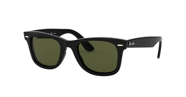 4abcd33560 Ray-Ban Wayfarer Ease RB4340 Black - Injected - Green Polarized Lenses -  0RB4340601 5850