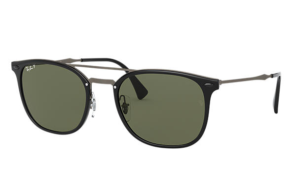 915bbb2f8b Ray-Ban RB4286 Black - Injected - Green Polarized Lenses ...