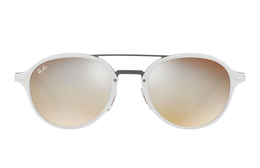 Ray-Ban Sunglasses RB4287 White with Silver Gradient Flash lens